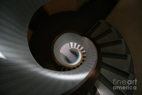 Photograph - Lighthouse Stairs by Timothy Johnson