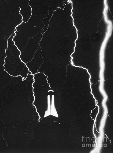Photograph - Lightning Strikes Empire State by Science Source