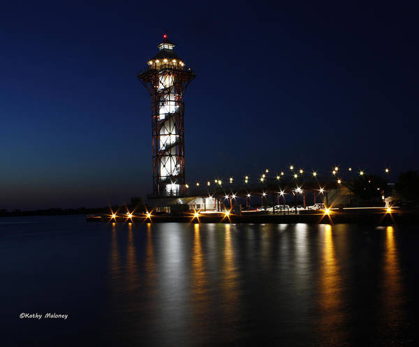 Photograph - Lights On The Bay by Kathy Maloney