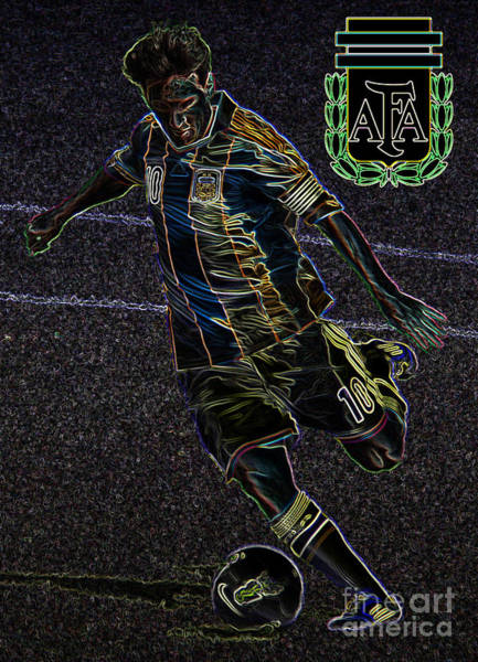 Wall Art - Photograph - Lionel Messi Kicking Viii by Lee Dos Santos
