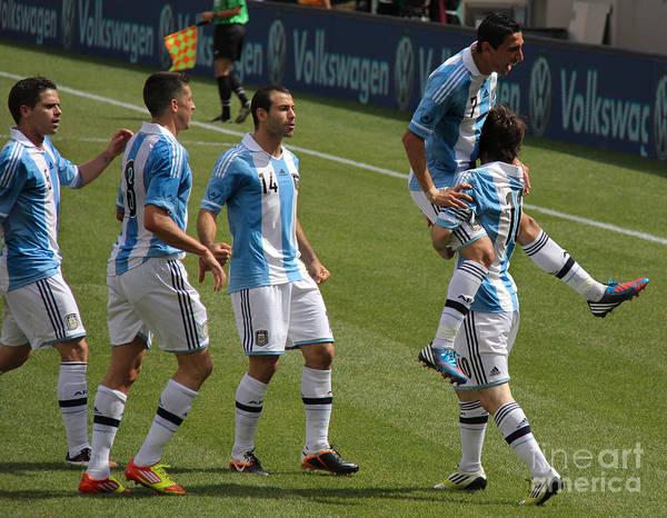Lionel Photograph - Lionel Messi The Hug by Lee Dos Santos
