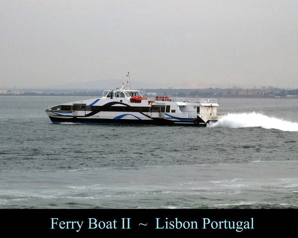 Photograph - Lisbon Ferry Boat II Portugal by John Shiron