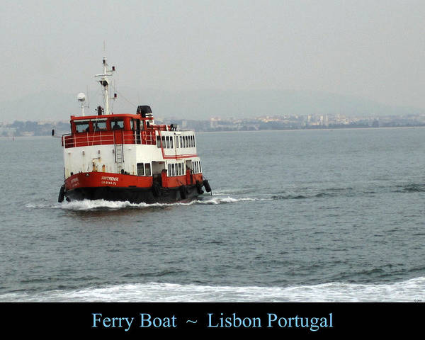 Photograph - Lisbon Ferry Boat Portugal by John Shiron