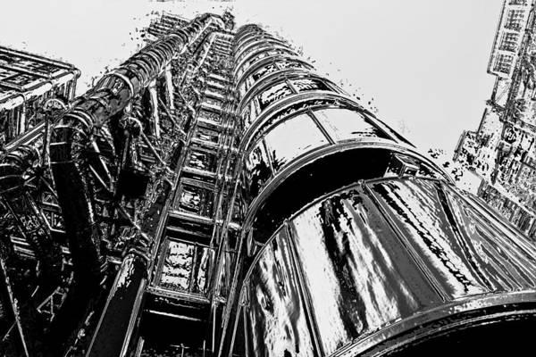 Wall Art - Digital Art - Lloyds Building Central London  by David Pyatt