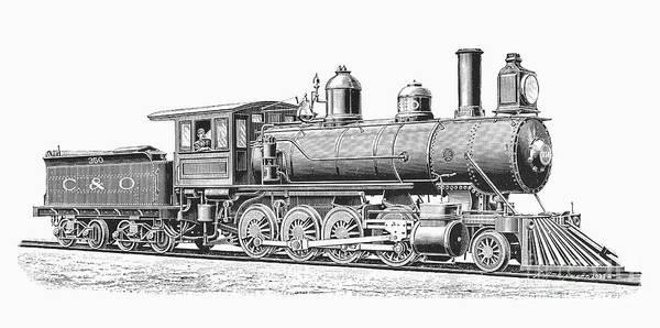 Chesapeake And Ohio Wall Art - Photograph - Locomotive, 1893 by Granger