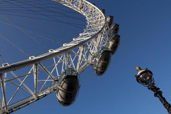 Wall Art - Photograph - London Eye And Street Lamp by David Pyatt