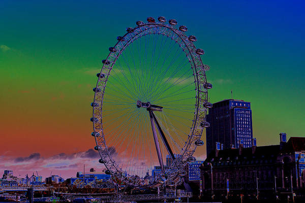 Wall Art - Digital Art - London Eye Digital Art by David Pyatt