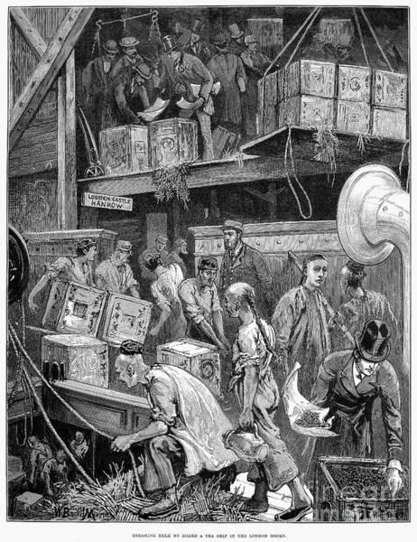 Coolie Photograph - London: Tea Ship, 1877 by Granger