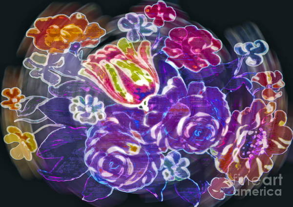 Neon Pink Photograph - Lost Treasures by Gwyn Newcombe