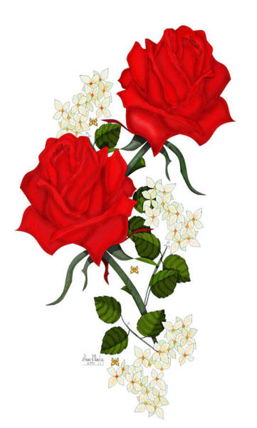 Wall Art - Painting - Love Is Like A Red Red Rose by Anne Norskog
