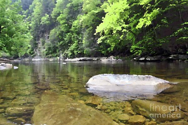 Stream Mixed Media - Loyalsock Creek by Doug Heavlow