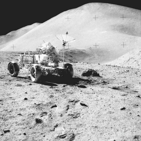 Photograph - Lunar Roving Vehicle by Nasa