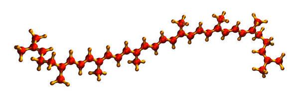 Wall Art - Photograph - Lycopene Plant Pigment Molecule by Dr Mark J. Winter