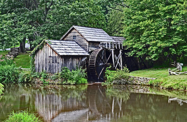 Photograph - Mabry Grist Mill by Bill Hosford