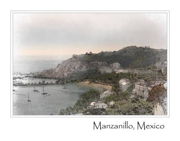 Digital Art - Manzanillo Mexico by Brandon Bourdages