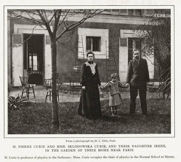 Wall Art - Photograph - Marie And Pierre Curie, French Physicists by Humanities & Social Sciences Librarynew York Public Library