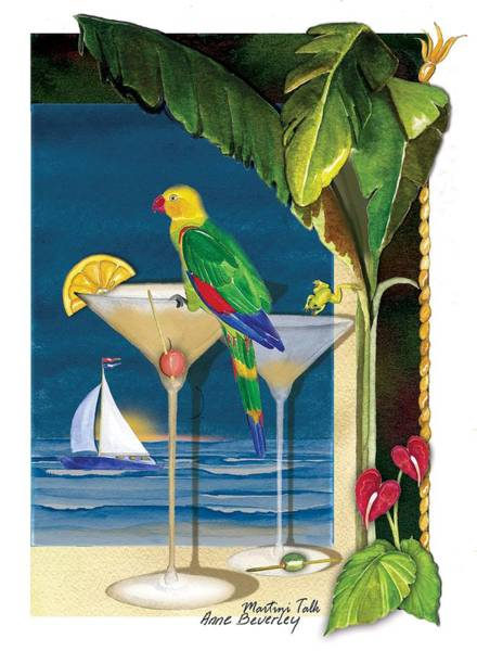 Martini Talk Art Print