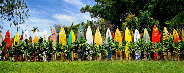 Surfboard Fence Photograph - Maui Surfboard Fence by Rob DeCamp