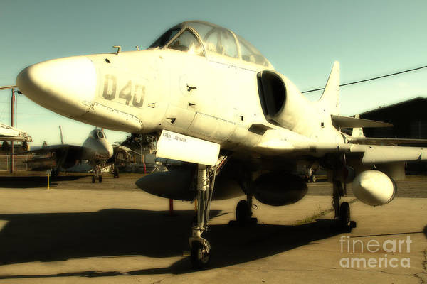 Photograph - Mcdonnell Douglas Ta-4j Skyhawk Aircraft Fighter Plane . 7d11198 by Wingsdomain Art and Photography