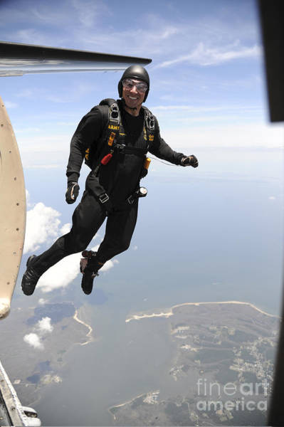 Skydiver Photograph - Member Of The U.s. Army Golden Knights by Stocktrek Images