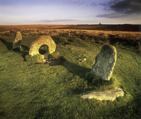 Penwith Photograph - Men-an-tol Standing Stones by Chris Madeley
