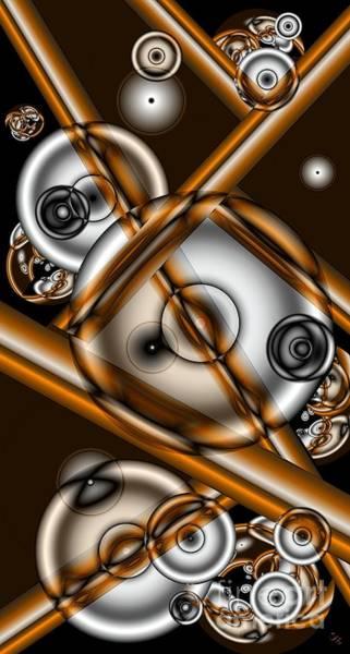 Merge Digital Art - Merging by Ron Bissett