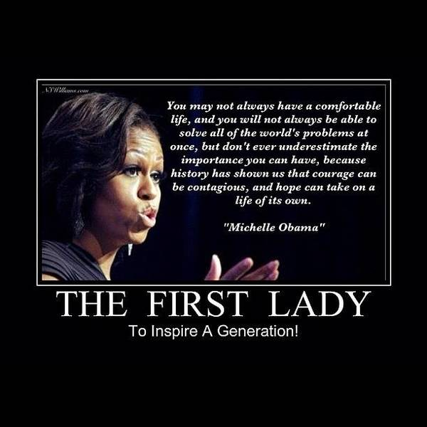 Politicians Wall Art - Photograph - Michelle Obama by Nigel Williams