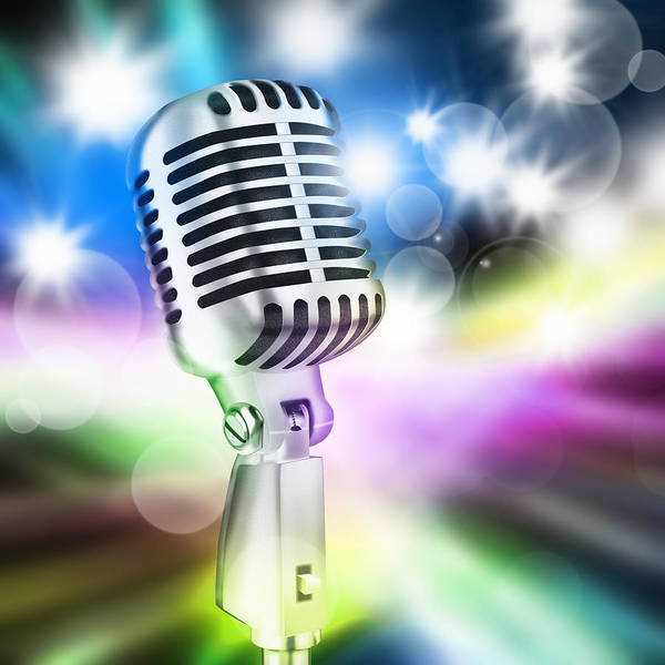 Broadcast Photograph - Microphone On Stage by Setsiri Silapasuwanchai