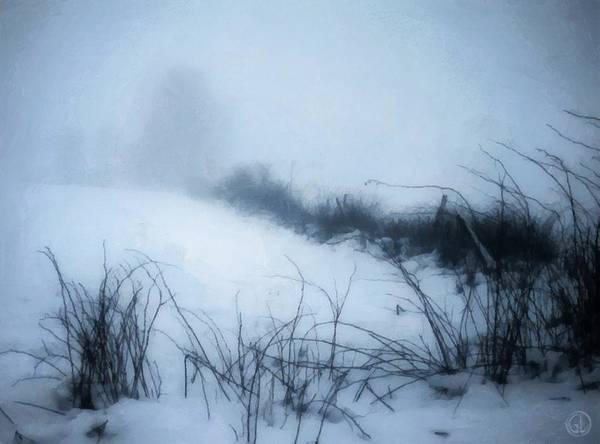 Snow Fence Digital Art - Misty Morning by Gun Legler