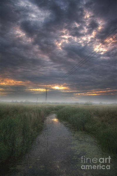 Wall Art - Photograph - Misty Sunset by Lee-Anne Rafferty-Evans