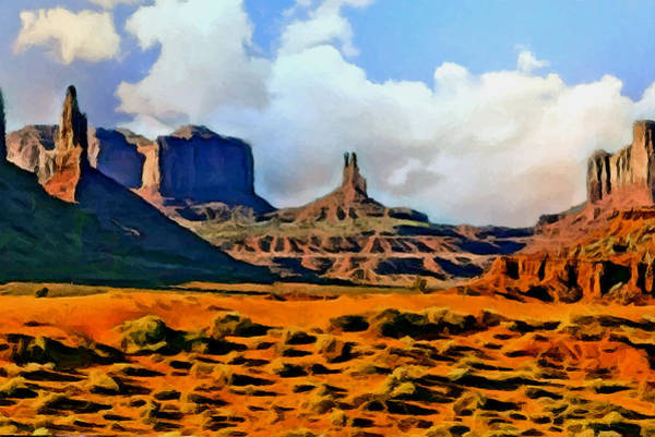 Grand Mesa Painting - Monument Valley Painting by Bob and Nadine Johnston