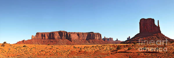 Navajo Indian Reservation Photograph - Monument Valley Pano by Jane Rix