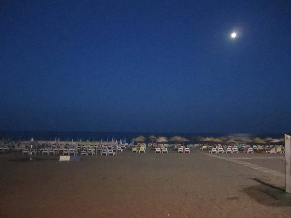 Photograph - Moon Lit Beach At Costa Del Sol Spain by John Shiron