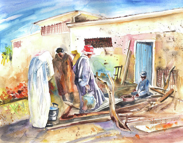 Painting - Moroccan Market 02 by Miki De Goodaboom