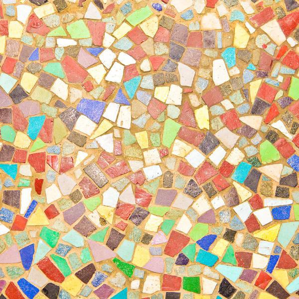 Pixel Photograph - Mosaic Background by Tom Gowanlock