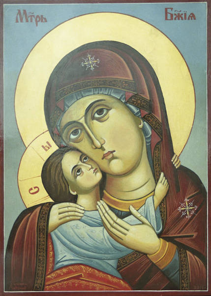 Ortodox Wall Art - Painting - Mother Of God by Anton Dimitrov