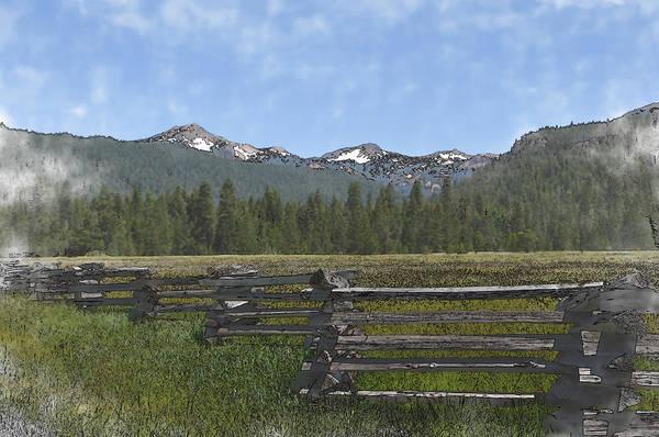 Digital Art - Mount Lassen California Volcanic National Park by Brandon Bourdages