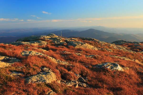 Smugglers Notch Photograph - Mount Mansfield Alpine Zone Autumn by John Burk
