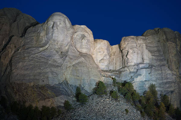 Rushmore Photograph - Mount Rushmore Nightfall by Steve Gadomski