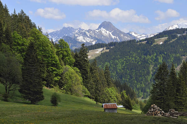 Photograph - Mountain Landscape In The Alps by Matthias Hauser
