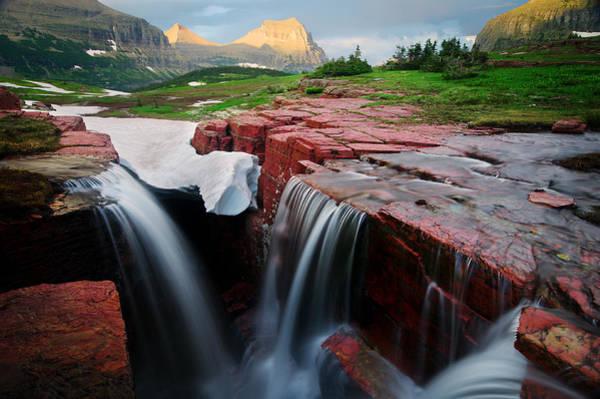 Triple Falls Photograph - Natural Beauty by Bernard Chen