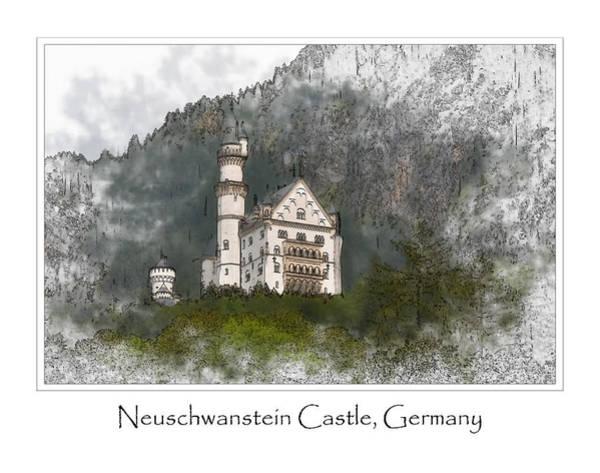 Digital Art - Neuschwanstein Castle by Brandon Bourdages