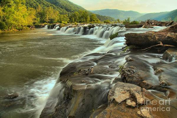 Photograph - New River Waterfall by Adam Jewell