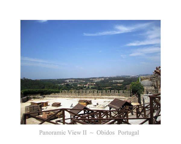 Photograph - Obidos Panoramic View II Portugal by John Shiron