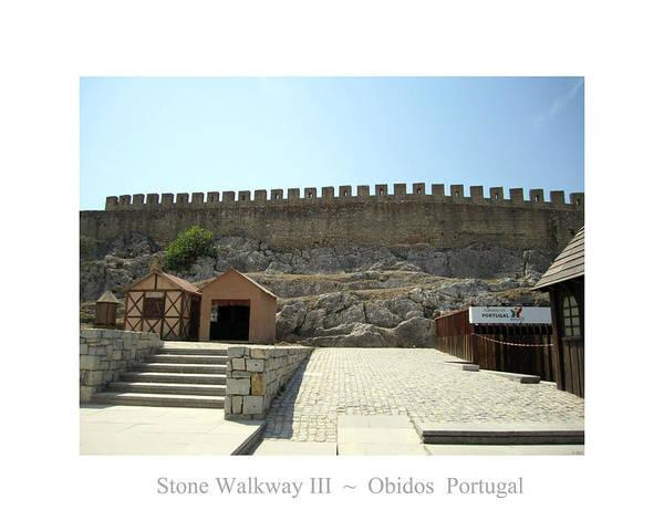 Photograph - Obidos Stone Walkway IIi Portugal by John Shiron