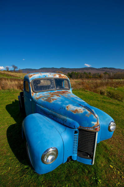 Waterbury Photograph - Old Blue by Mike Horvath