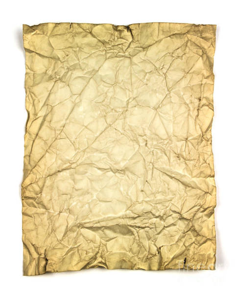 Wrinkle Wall Art - Photograph - Old Brown Paper by Blink Images