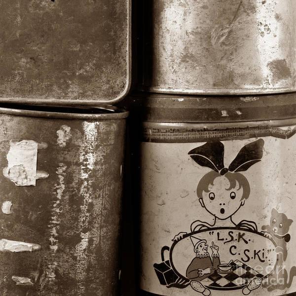Tin Box Photograph - Old Fashioned Iron Boxes. by Bernard Jaubert