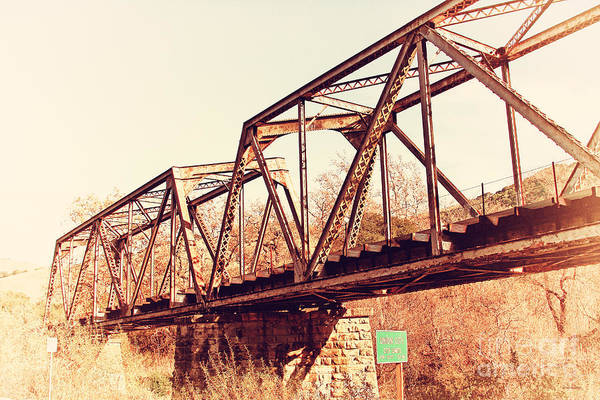 Photograph - Old Railroad Bridge At Union City Limits Near Historic Niles District In California . 7d10736 by Wingsdomain Art and Photography