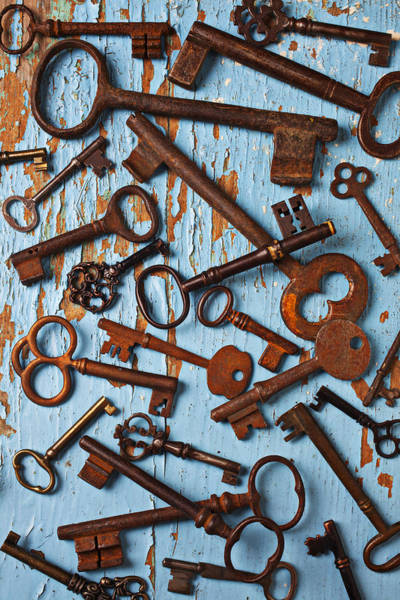 Skeleton Key Photograph - Old Skeleton Keys by Garry Gay
